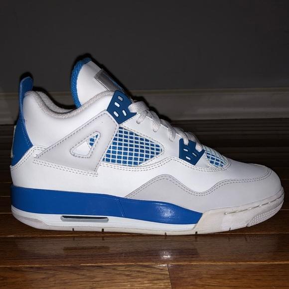 new style f6576 efaa0 Nike Air Jordan 4 Retro (GS) Military Blue 5Y